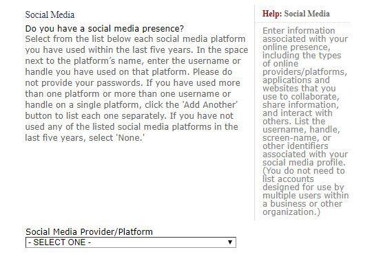 U.S. Visa Applicants Required to Submit Social Media Information
