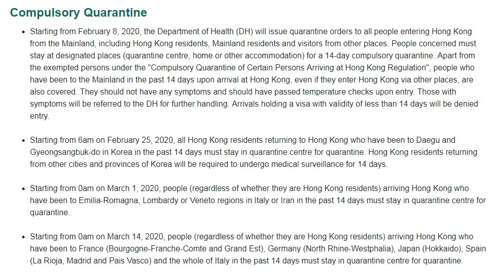 Attention! 14-Day Quarantine Required If You Come from...